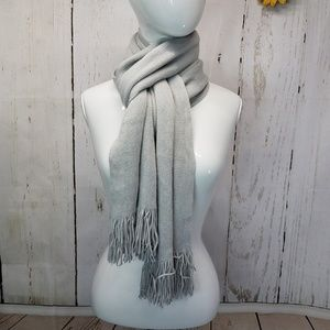 Calvin Klein long scarf gray with fringe